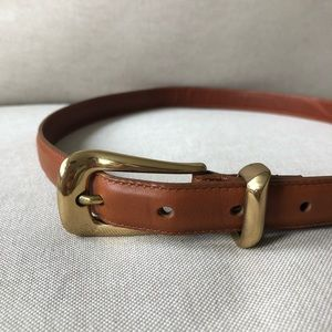 Coach Narrow Leather Belt